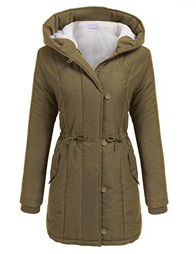 Beyove Womens Military Hooded Warm Winter Faux Fur Lined Parkas Anroaks Long ()