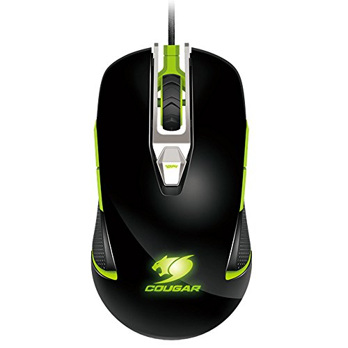 Cougar 450M Optical Gaming Mouse - Wired - 8 Configurable Buttons - 5000 DPI- Ambidextrous and Ergonomical Design - Black & Green by Cougar gaming