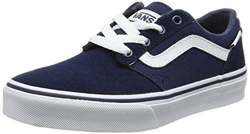 Vans Chapman Stripe, Zapatillas de Entrenamiento Unisex Niños Azul (Dress Blues/whitesuede/canvas)
