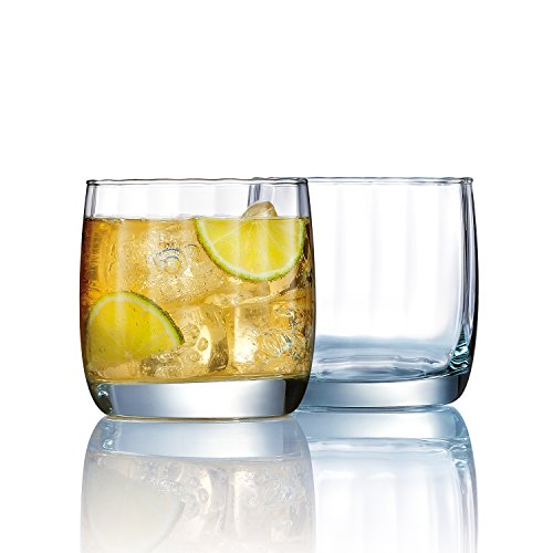 Eclipse Double Old Fashioned (Luminarc Eclipse Double Old Fashion Glass (Set of 4), 14 oz,)