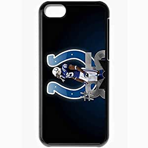 Personalized iPhone 5C Cell phone Case/Cover Skin 1013 indianapolis colts Black