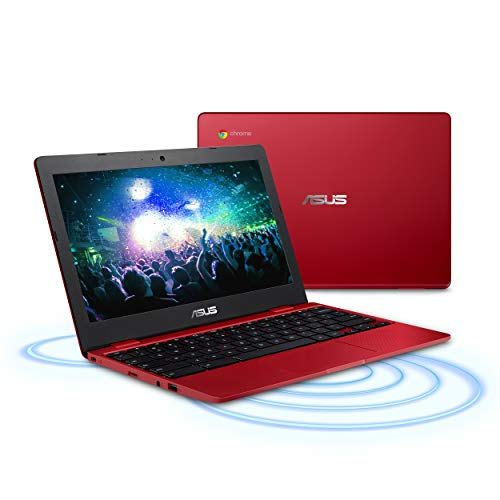 "Asus C223NA-DH02-RD Chromebook 11.6"", Intel Dual-Core Celeron N3350 Processor (Up to 2.4GHz) 4GB RAM, 32GB eMMC Storage, Red"