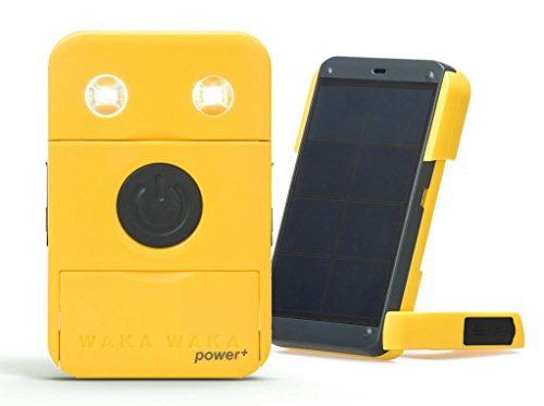WakaWaka Power+ Solar-Powered Flashlight + Charger, Yellow