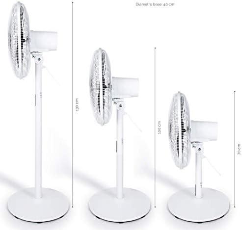 Plastica MIDEA FS40-18BR Stand Fan 3 in 1 Ventilatore 8 Velocita Timer-Pala 40 CM