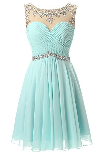 Butmoon Beaed Chiffon Short Prom Gown Homecoming Dresses