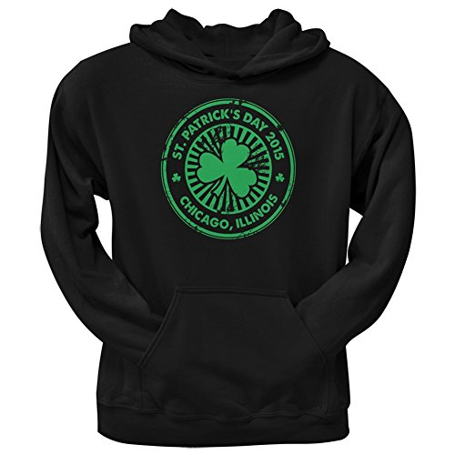 UPC 889357761372, St. Patrick's Day - Chicago IL Black Adult Hoodie - 2X-Large