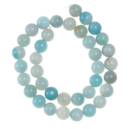 60pcs 6mm Amazonite Loose Beads for Jewelry Making Adults Bracelets Necklace Natural Stone Beads for Handmade Jewellry