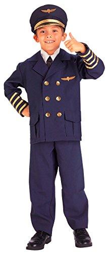 Pilot Costume Boy (Forum Novelties Airline Pilot Costume, Medium)