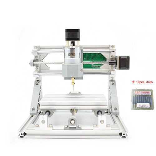 2-in-1 DIY CNC 1610 3 Axis CNC Router Kit + 5500mw Laser Engraver Wood Cutter - PCB Milling, Wood Carving Engraving Machine