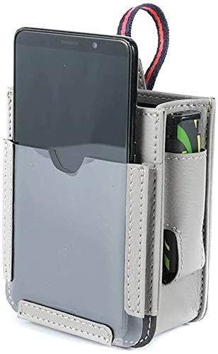 Bolsa de almacenamiento para ventilación de coche, multifuncional, con puerto de carga para teléfono, teléfono celular, cargador (gris)