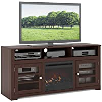 Sonax F-192-BWT West Lake 60-Inch Dark espresso stained wood Fireplace Bench