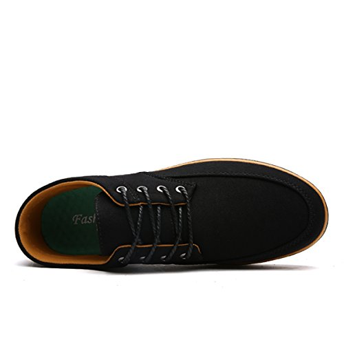 Formateurs Basket Course Sport de Gym 46 39 Pied Running LFEU Noir Chaussure Respirant Sneakers Toile Large Homme gPUP4Fq