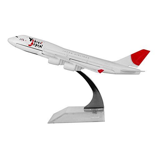 24-Hours Japan Airlines Boeing 747-400 Alloy Flying Model