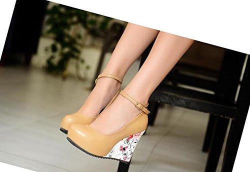 Abricot Boutique Femme Escarpins Cuir Pu Chaussures Wedges Xiuhong vqUFf0nq