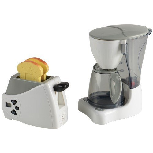 Constructive Playthings Action Fun Appliances 2 pc. Breakfast Set with Toaster and Coffee Maker by Constructive Playthings