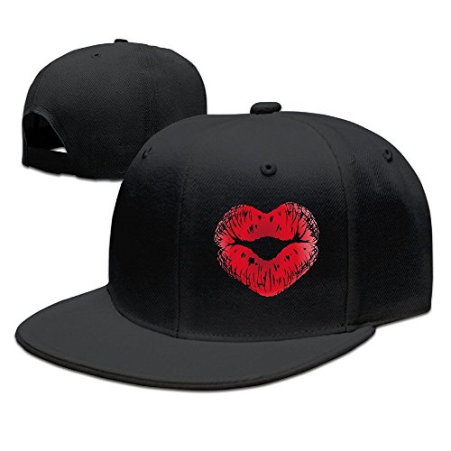 (SSEE Unisex-Adult Kiss Lipstick Casual Baseball Caps Hat)