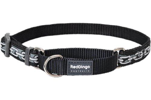 Red Dingo Designer Martingale Dog Collar, Large, Chain
