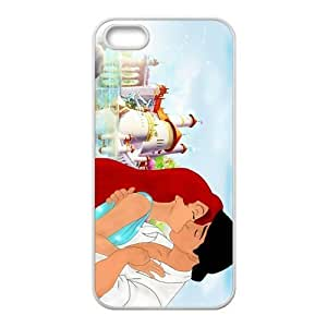 Cartoon The Little Mermaid Ariel Plastic White Case Cover For Iphone 5/5s 0051 wangjiang maoyi