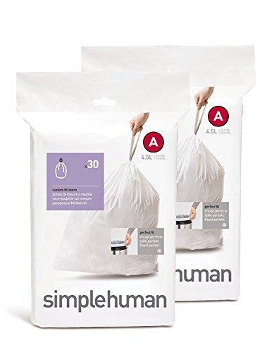 Amazon.com: Bolsa para bote de basura A simplehuman, 4.5 ...