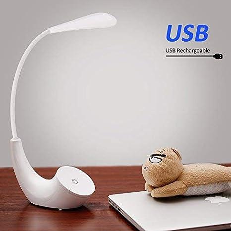 Lampe De Chevet Led Usb Rechargeable Sans Fil 3 Niveaux De Luminosité Contrôle Tactile 5500k Blanc Lampe De Lecture Lumière Yeux Protégés Lampe De