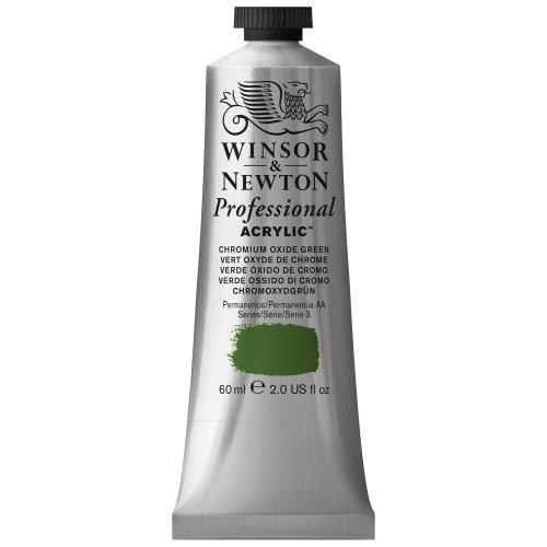Winsor & Newton Professional Acrylic Color Paint, 60ml Tube, Chromium Oxide Green