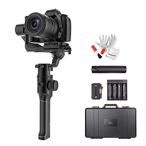 MOZA Air 2 with Hard Protection Case, 3 Axis Handheld Gimbal Stabilizer, 9lbs Payload, 16-Hour Long Working Time, OLED Display, 4 Axis 8 Follow Modes for DSLRs Mirrorless and Pocket Cinema Cameras ()