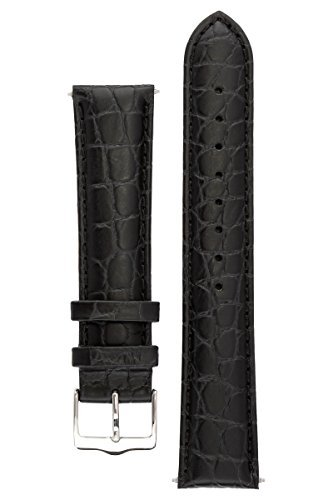 signature-siena-in-black-21-mm-watch-band-replacement-watch-strap-genuine-leather-silver-buckle