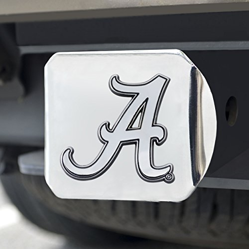 FANMATS  14978  NCAA University of Alabama Crimson Tide Chrome Hitch Cover