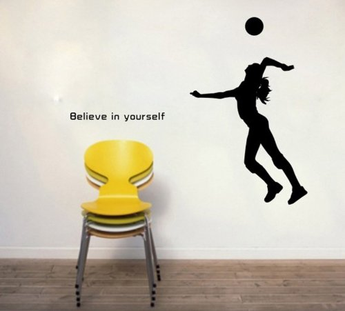 Sporting Volleyball Yourself Stickers Removable