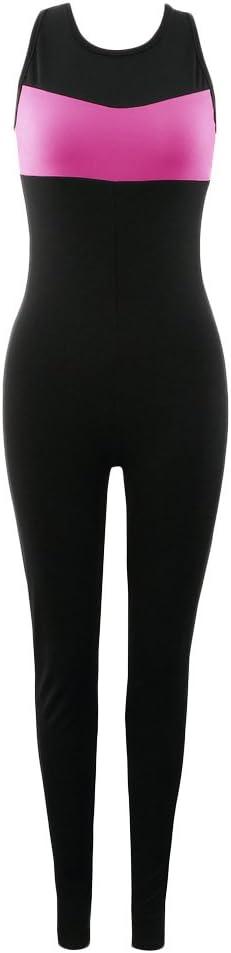 SunniMix Mujer Pantalones Deportivos Yoga Top Jumpsuit Medias Leggings Gimnasio Fitness Atlético