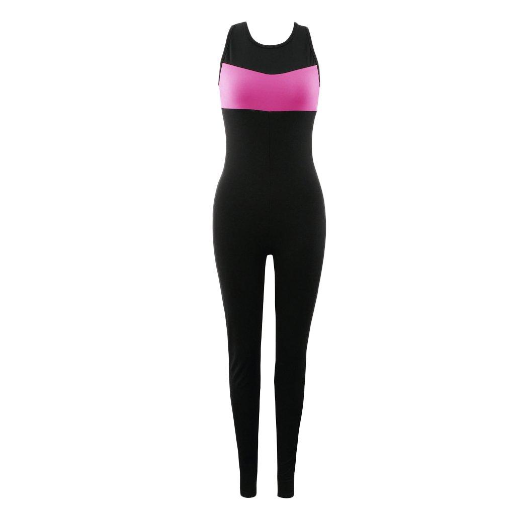 TALLA M. SunniMix Mujer Pantalones Deportivos Yoga Top Jumpsuit Medias Leggings Gimnasio Fitness Atlético