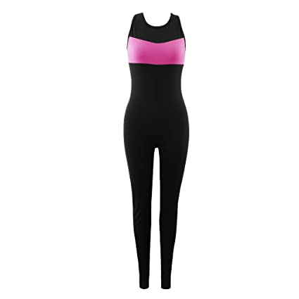 Baoblaze Mujeres Deportes Yoga Jumpsuit Running Fitness Gym Medias Pantalones Atléticos