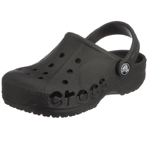 crocs Unisex-Kinder Baya Kids Clogs Schwarz (Black)