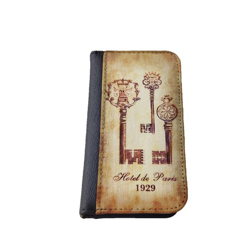 Victorian skeleton keys Iphone 4/4s Case, vintage french design, Iphone 4 Cover, Iphone 4s Case, Flip Case, Notebook, Book Style Cover, Wallet Case. Made in the U.S.A
