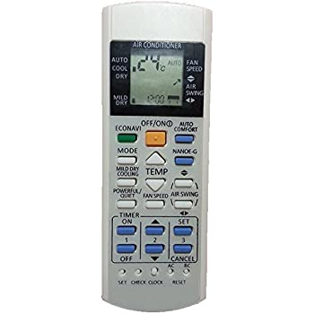 Replacement for Panasonic Air Conditioner Remote Control Model Number:  A75C3702