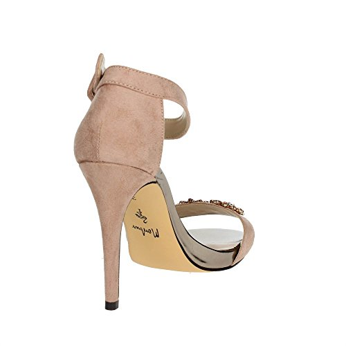 Femme Menbur Poudre 09277 Sandale Rose qnwA0ExO