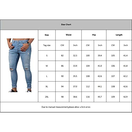 De Straight R Skinny Fit Chicos Blau1 Stretch Denim Fit Jeans Slim Casual Clásico Pants Cintura Masculina Moda Trousers Destroyed Baja Skinny Ripped x8fXEwOqn
