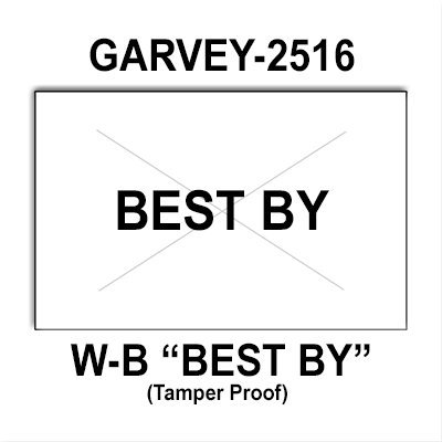 160,000 Garvey compatible 2516 ''Best By'' White General Purpose Labels to fit the G-Series 25-88, 25-99, 25-5, 25-10/10 Price Guns. Full Case + includes 20 ink rollers. by Infinity Labels