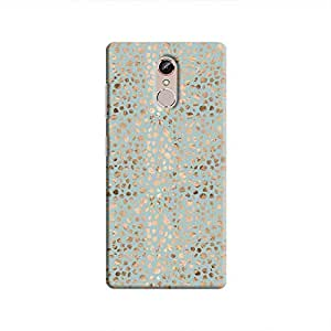 Cover It Up - Brown Cyan Pebbles Mosaic Gionee S6s Hard Case
