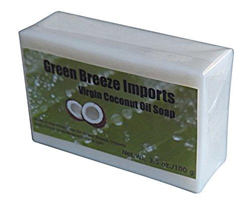 Make Coconut Oil Soap (Green Breeze Imports Natural Unscented Virgin Coconut Oil Soap (4-pack))