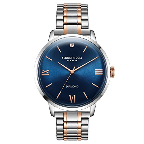 Kenneth Cole New York Men's Three Hand Classic Watch with a Diamond Dial