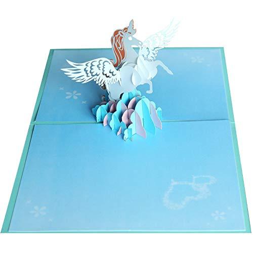 Clsstar 3d Card Unicorn Hand Made Birthday Card Gift Card Dreams