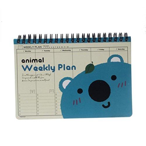 Cute Planner Joopee Cute Kawaii Bear Diary Weekly Planner Agenda Notepad Notebook Cute (Kawaii 2015 Weekly Planner)