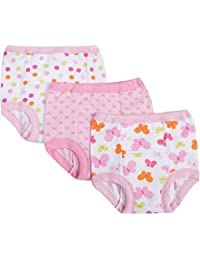 Baby Toddler Girl Cotton Training Pants, 3T, 3-Pack