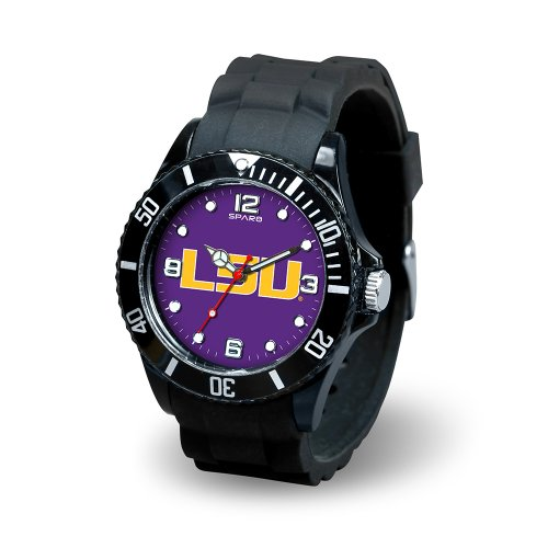 (Rico Industries NCAA LSU Tigers Spirit Watch, Black)