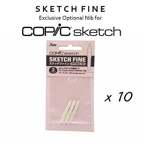 - Copic Sketch Fine Nibs Bundle of 3 (30 Nibs Total) (Kit)