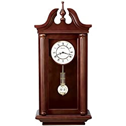 Bulova C4456 Manchester Wall Clock, Walnut Brown