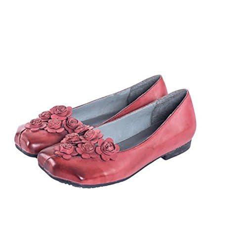 6b47cd85 YNXZ-SHOE Mujeres Sandalias Cabeza Redonda Piel De Carnero Zapatos ...