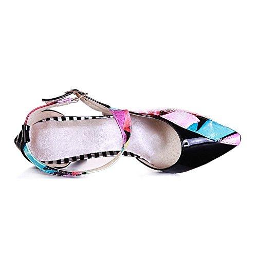 Adee Ladies cross-body-strap pointed-toe Poliuretano bombas zapatos Azul - azul