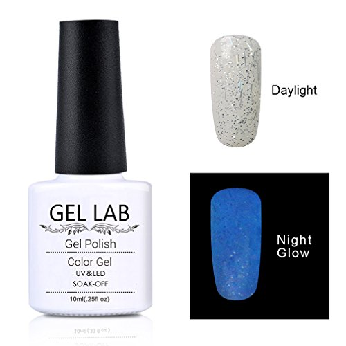 GEL LAB Glow In the Dark Gel Nail Polish Soak Off UV Night G